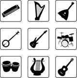 Instruments musicaux 1 Photo libre de droits