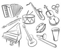 Instruments musicaux Photo stock