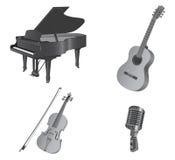 Instruments musicaux. Photographie stock libre de droits