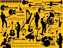 Instruments musicaux Photos libres de droits