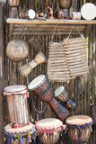 Instruments musicaux africains Images libres de droits