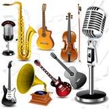 Instruments musicaux de vecteur illustration de vecteur
