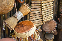 Instruments musicaux fabriqués à la main Photo libre de droits