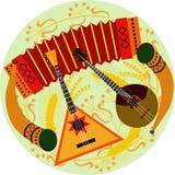 Instruments musicaux folkloriques Photo libre de droits