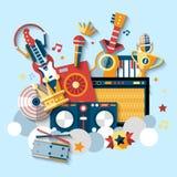 Instruments musicaux réglés Photos libres de droits