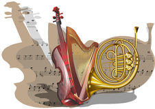 Instruments of orchestra Royalty Free Stock Photos