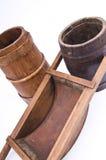 Instruments pour produire et enregistrer le vin. Images libres de droits