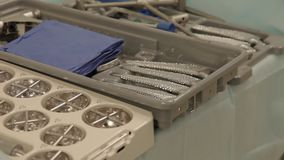 Instruments for prosthetic surgery stock footage