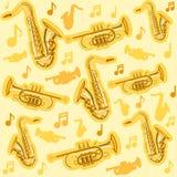 Instruments saxophone de Musicial et mod?le de cornet illustration de vecteur