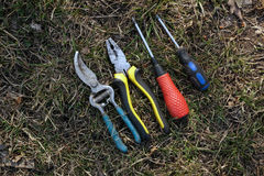 Instruments.Screwdrivers, pliers. Stock Image