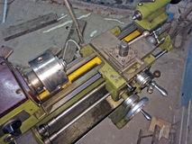 Instruments. Spare parts from lathe. Instruments Stock Photo