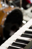Instruments on stage Stock Photography