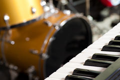 Instruments on stage Royalty Free Stock Photo