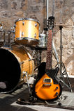 Instruments on stage Royalty Free Stock Image