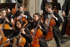 Instruments Symphony Orchestra on stage Stock Photo