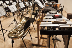 Instruments Symphony Orchestra Royalty Free Stock Photography