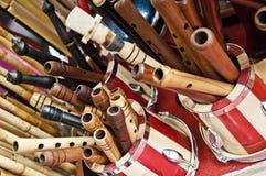 Instruments turcs, ney Photos libres de droits