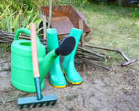 Instruments for work in a garden Royalty Free Stock Photo