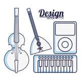 Instrumentu muzycznego projekt royalty ilustracja