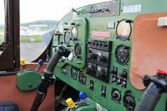 Instrumentu panel w małym sporta samolocie fotografia stock