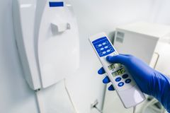 Instrumenty dentysta, gabinet, meblowania fotografia royalty free