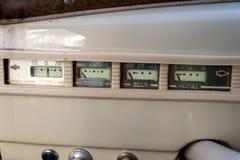 Instrumenty i panel stary Rosyjski samochód wykonawczy cl Zdjęcie Stock