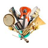 Instrumenty muzyczni, orkiestra Zdjęcia Stock