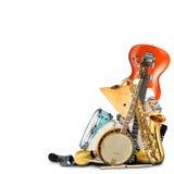 Instrumenty muzyczni, orkiestra Fotografia Stock