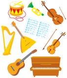 instrumenty muzykalni Zdjęcia Stock