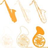 instrumenty muzykalni Fotografia Stock