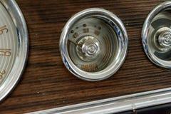 Instrumenty nawadniają czujnika i panel stary Rosyjski samochód Zdjęcia Royalty Free