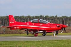 Instrutor Aircraft da turboélice de Pilatus PC-21 Imagem de Stock