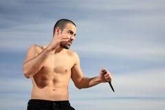 Instrutor das artes marciais Foto de Stock