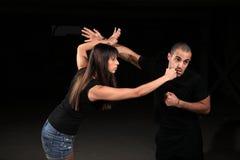 Instrutor das artes marciais foto de stock royalty free