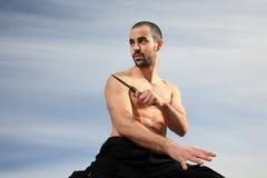 Instrutor das artes marciais Fotos de Stock Royalty Free