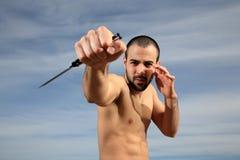 Instrutor das artes marciais Fotografia de Stock