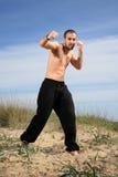 Exercício do instrutor das artes marciais exterior Imagem de Stock Royalty Free