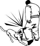 Instrutor de cão do protetor ilustração royalty free