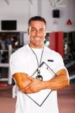 Instrutor de ginástica profissional Imagens de Stock