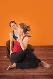 Instrutor de Yogasana Foto de Stock Royalty Free