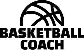 Instrutor do basquetebol com polegares ilustração royalty free