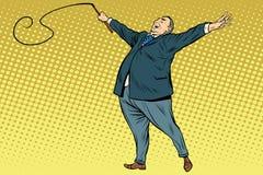 Instrutor do chefe com um chicote ilustração stock