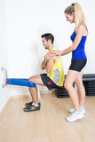 Instrutor fêmea que explica o treinamento Foto de Stock Royalty Free