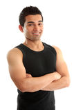 Instrutor ou construtor atlético da aptidão Fotos de Stock Royalty Free