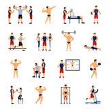 Instrutor Set do Gym ilustração do vetor