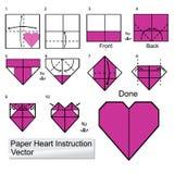 Instuction de papel do coração Fotografia de Stock