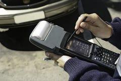 Instument para controlar de vehículos estacionados Imagen de archivo libre de regalías