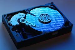 Insude d'entraînement de disque dur Photos stock