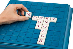 Insufficient MONEY concept on board game Royalty Free Stock Photos