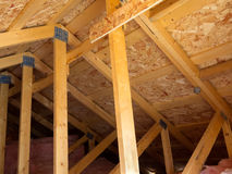 Insulated attic from trusses Stock Photography
